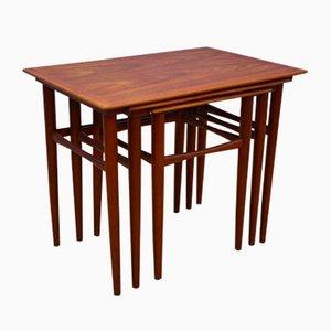 Tables Gigognes en Teck, Danemark, 1960s, Set de 3