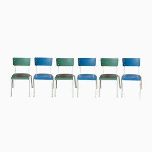 Industrielle Vintage Esszimmerstühle, 1970er, 12er Set