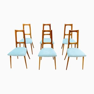Italian Dining Chairs, 1954, Set of 6