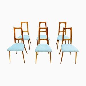 Italian Dining Chairs, 1954, Set of 6
