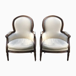 French Louis XVI Armchairs, Set of 2