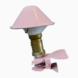 Pink Clip Table Lamp, 1950s