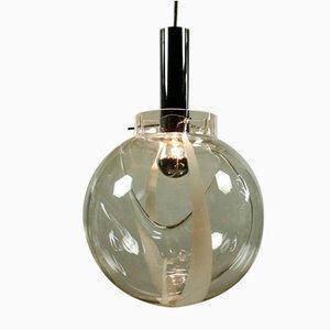 Lampe à Suspension Boule Vintage en Verre de Murano, 1970s