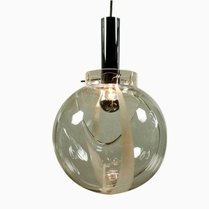 Vintage Murano Glass Ball Pendant Lamp, 1970s