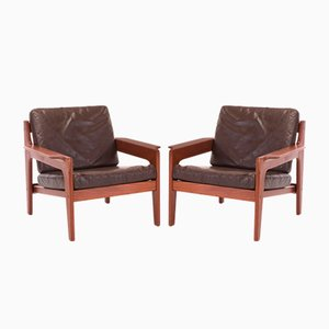Lounge Chairs by Arne Wahl Iversen for Komfort, 1960s, Set of 2