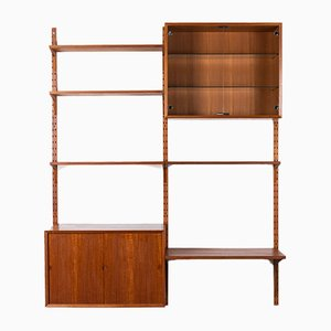 Danish Teak Wall Unit by Poul Cadovius for Cado, 1960s