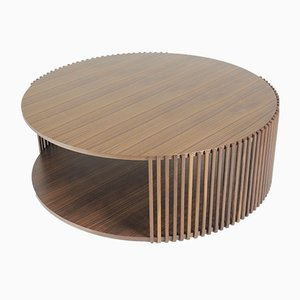 Table Basse Canaletto Palafitte en Noyer par DebonaDemeo pour Medulum