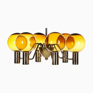 Mid-Century Patricia T372 / 6 Chandelier by Hans-Agne Jakobsson for Hans-Agne Jakobsson AB Markaryd