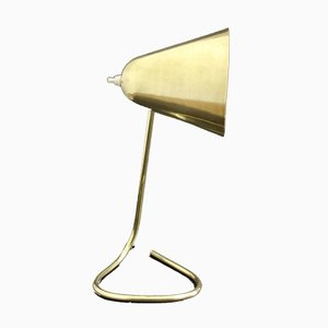Mid-Century Brass Adjustable Table Lamp by Jacques Biny for Luminalité, 1950s