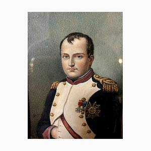 Louis Guy, escuela de francés, Napoleón Bonaparte, acuarela del siglo XIX.