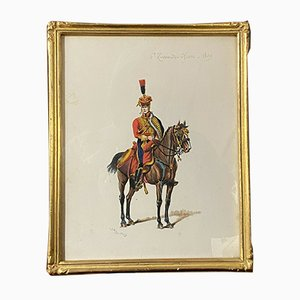G. Bitry-Boëly, French School, Hussar Officer, 1850s, Watercolor