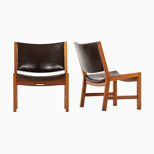 Easy Chairs Model JH54 by Hans Wegner for Johannes Hansen, Denmark, Set of 2