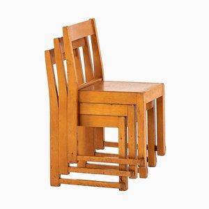 Schwedische Kinderstühle von Sven Markelius, 3er Set