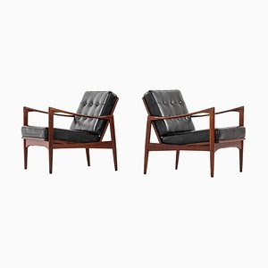 Swedish Easy Chairs Model Candidate by Ib Kofod-larsen for OPE, Set of 2