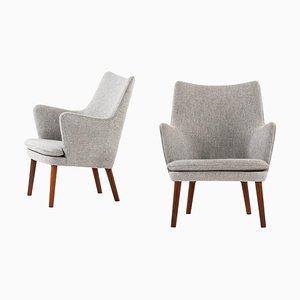 Easy Chairs Model AP20 by Hans Wegner for A.P. Stolen, Denmark, Set of 2