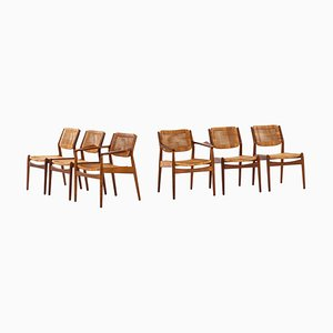 Dining Chairs Model 51 by Arne Vodder for Sibast Furniture Factory, Denmark, Set of 6