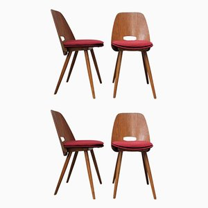 Lollipop Chairs from Tatra, 1960s, Set of 4