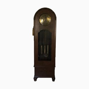 Art Deco Longcase Clock in Solid Wood