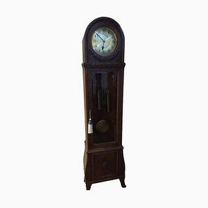 Horloge Longue Art Déco en Bois Massif