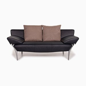 1600 Leder 2-Sitzer Sofa in Dunkelblau von Rolf Benz