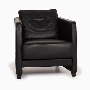 Conseta Leather Armchair in Black from Cor