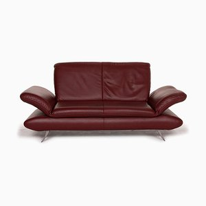 Rossini Leather 2-Seat Sofa in Dark Red from Koinor