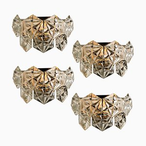 Faceted Crystal and Chrome Sconce from Kinkeldey, Germany, 1970s