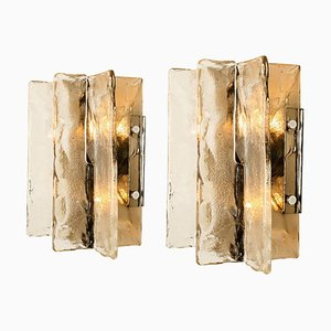 Wall Sconces by Carlo Nason for Mazzega, Murano, Set of 2