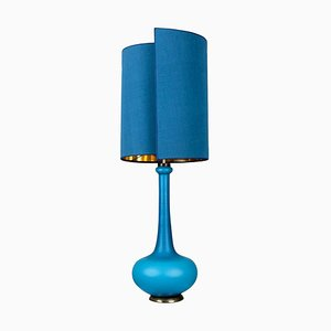 Table Lamp with Silk Lampshade from Holmegaard, 1960s