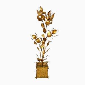 Mid-Century Flower Floor Lamp in Brass by Hans Kogl