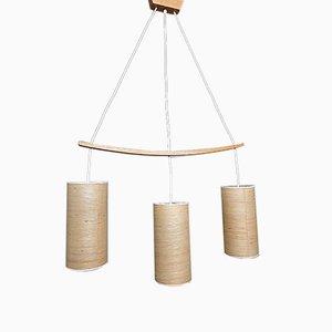 Vintage Scandinavian 3-Drop Pendant Lamp