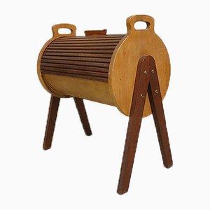Caja de costura vintage enrollable