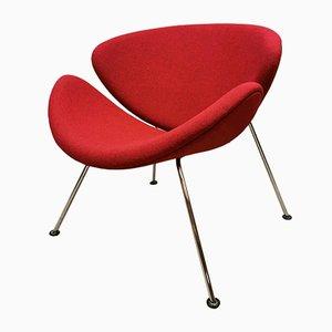 F437 Orange Slice Easy Lounge Chairs by Pierre Paulin for Artifort
