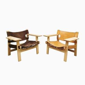 Mid-Century Spanish Chair by Borge Mogensen for Fredericia