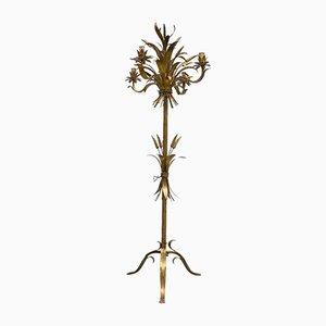 Vintage Goldfarbene Mais Lampe im Hollywood Regency Stil