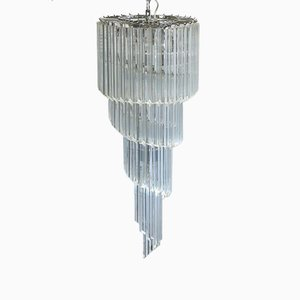 Large Murano Chandelier Spiral in the Style of Venini