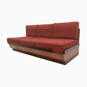 Mid-Century Sofa Bed in Walnut by Jindřich Halabala for Up Zavody, 1950s