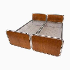 Verchromte Betten von Kovona, 1950er, 2er Set