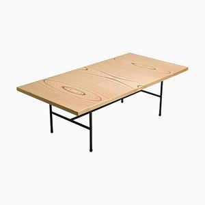 Tavolino in compensato laminato e ferro di Tapio Wirkkala