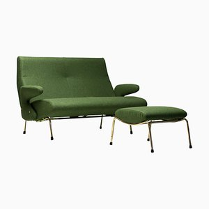 Delfino Sofa and Ottoman by Erberto Carboni, 1950s, Set of 2