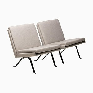 Scandinavian Architectural Lounge Chairs, Set of 2