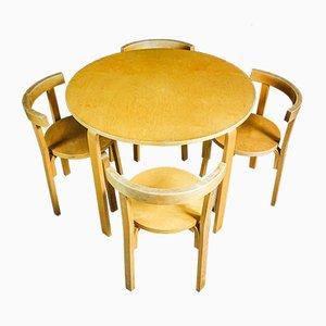 Ensemble de salle à manger vintage Alvar Aalto avec table et chaises
