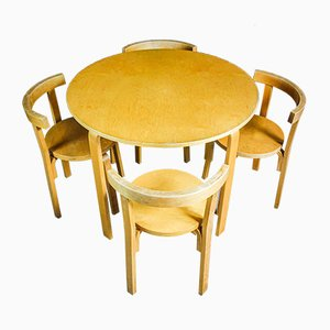 Vintage Alvar Aalto Dining Set with Table with Chairs