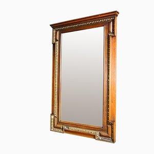 Großer Spiegel in antikem Holzformteil