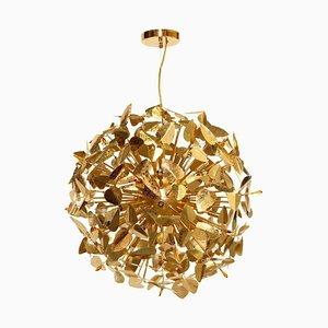 Pendant Light With Amber Swarovski Crystals