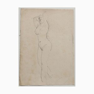 Jeanne Daour, Nude, Drawing in Pencil, 1939
