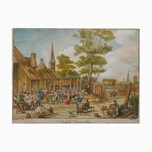 David Teniers the Younger, Country Fest, Incisione, XVII secolo