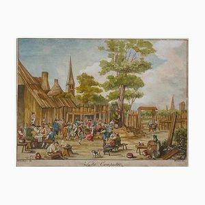 David Teniers the Younger, Country Fest, Radierung, 17. Jahrhundert