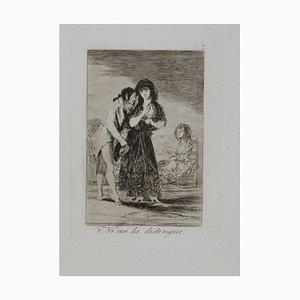 Francisco Goya, Ni So the Distinguishes, Etching, 1799