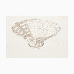 Desconocido - Jarrones de porcelana - Acuarela original y tinta china - 1880